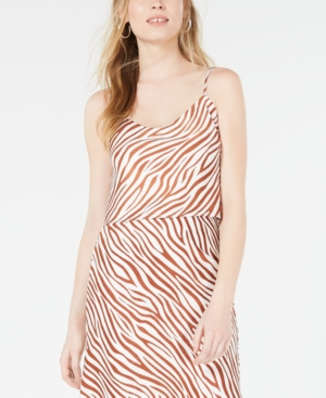 4SI3NNA Zebra-Print Crop Top