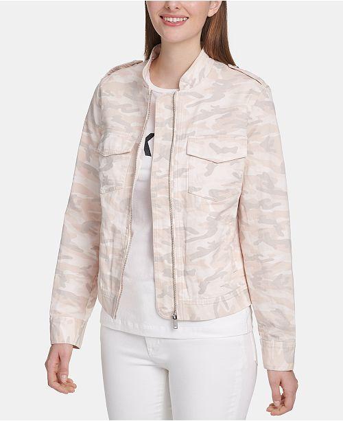 DKNY Camo Zip-Up Jacket