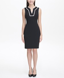 Tommy Hilfiger Scuba Crepe Sheath Dress
