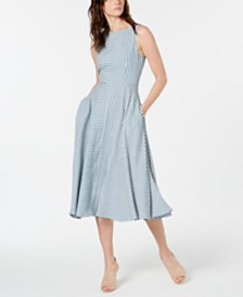 Marella Tordo Spliced Striped Dress