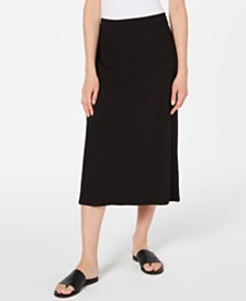 Eileen Fisher Pull-On Midi Tencel ™ Skirt, Regular & Petite