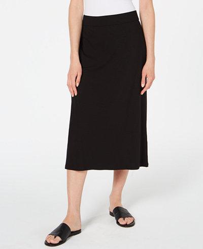 Eileen Fisher Pull-On Midi Tencel ™ Skirt, Regular & Petite