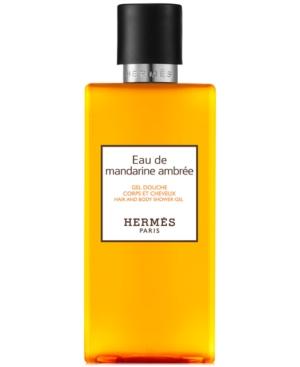HERMES Eau de Mandarine Ambree Hair & Body Shower Gel, 6.7-oz.