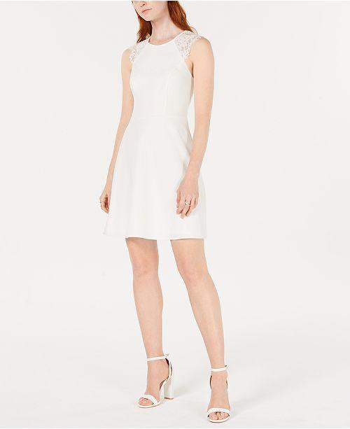 19 Cooper Lace Trim Open Back A Line Dress Reviews