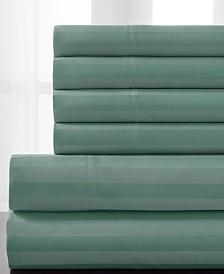 Delray Woven Stripe Bonus Cotton Blend 600 thread count California King Sheet Set