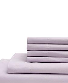 California King Microfiber Solid Sheet Set with Bonus Pillowcases