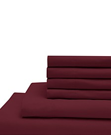 Full Microfiber Solid Sheet Set with Bonus Pillowcases