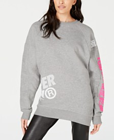 Superdry Japan Edition Cotton Oversized Sweatshirt Dress