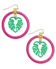 INC Gold-Tone Thread-Wrapped Palm Tree Drop Earrings, Created for Macy's