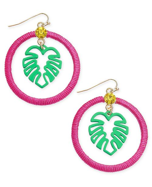 INC International Concepts INC Gold-Tone Thread-Wrapped Palm Tree Drop Earrings, Created for Macy's