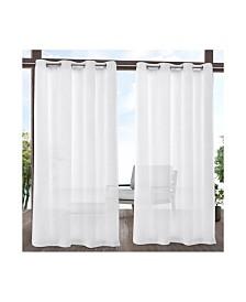 Exclusive Home Tao Indoor Outdoor Sheer Linen Grommet Top Curtain Panel Pair