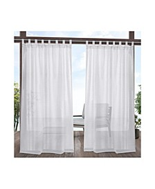Miami Indoor Outdoor Textured Tab Top Curtain Panel Pair