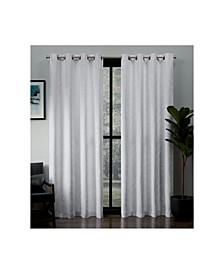 Kilberry Woven Blackout Grommet Top Curtain Panel Pair