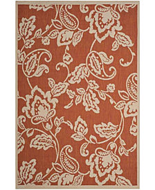 """Martha Stewart Collection Terracotta and Beige 5'3"""" x 7'7"""" Area Rug, Created for Macy's"""