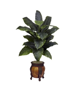 Nearly Natural Giant Spathiphyllum w/ Decorative Vase Silk Plant