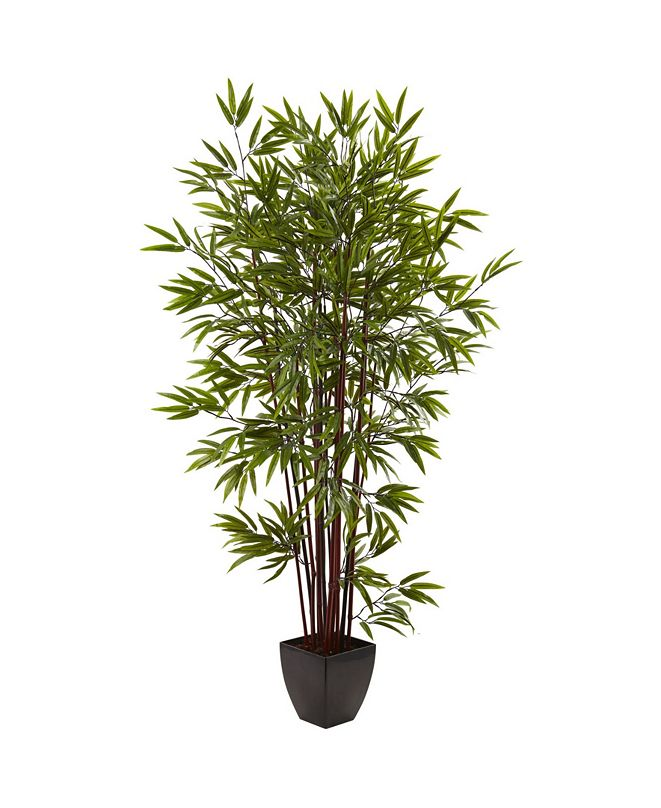 Nearly Natural 6' Bamboo Silk Tree w/ Planter