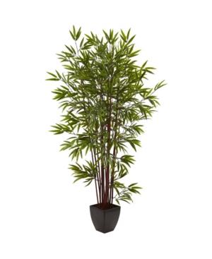 Nearly Natural 6' Bamboo Silk Tree w/ Planter