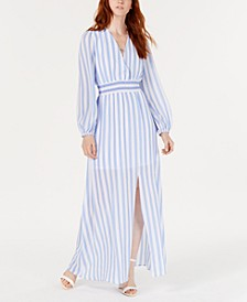 Striped Smocked-Waist Maxi Dress