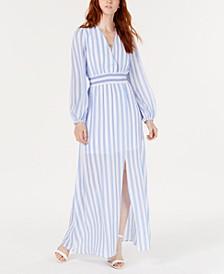 Striped Smocked-Waist Maxi Dress