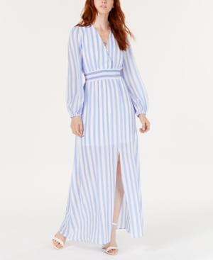 Avec Les Filles Dresses STRIPED SMOCKED-WAIST MAXI DRESS