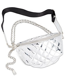 Convertible Chrome Patent Belt Bag