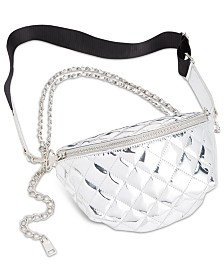 Steve Madden Convertible Chrome Patent Belt Bag