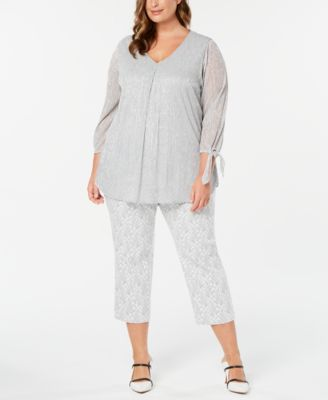 Plus Size Printed Skinny Capris, Created for Macy's