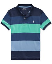 4ff0a91cffe88 Polo Ralph Lauren Toddler Boys Striped Stretch Performance Lisle Polo Shirt