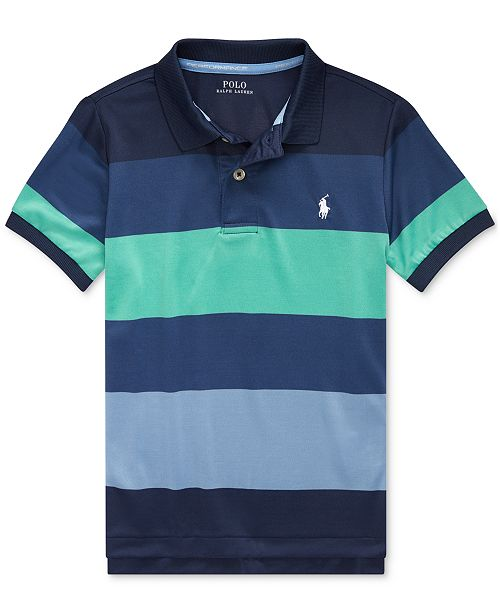 Polo Ralph Lauren Toddler Boys Striped Stretch Performance Lisle Polo Shirt
