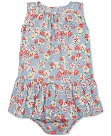Polo Ralph Lauren Baby Girls Floral Cotton Dress & Bloomers