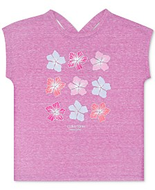Calvin Klein Performance Big Girls Flower-Print T-Shirt