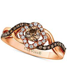 Le Vian Chocolatier® Diamond Ring (1/2 ct. t.w.) in 14k Rose Gold