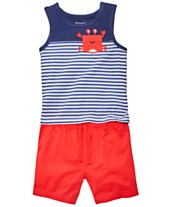 40131e8ab First Impressions Baby Boys Red, White & Blue Nautical Top & Shorts  Separates, Created