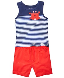 First Impressions Baby Boys Red, White & Blue Nautical Top & Shorts Separates, Created for Macy's
