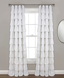 "Ruffle Window Curtain Panel, 50""x95"""