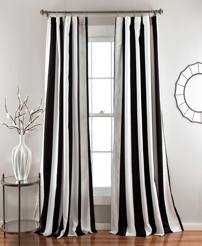 Lush Décor - Wilbur Stripe Room Darkening Window Curtain Sets
