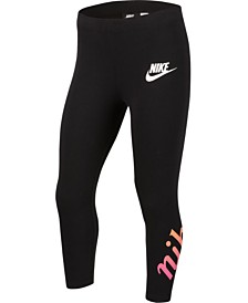 Nike Big Girls 3/4-Length Logo-Graphic Leggings
