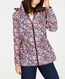 Charter Club Petite Floral-Print Anorak Jacket, Created for Macy's
