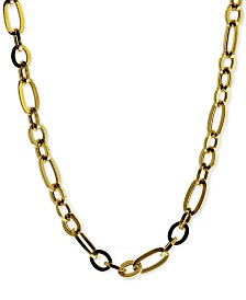 "Fancy Figaro Link 17-1/2"" Collar Necklace in 14k Gold"