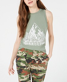 Juniors' Wanderer Graphic Tank Top