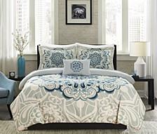 Mindy 8 Piece Queen Bed In a Bag Duvet Set