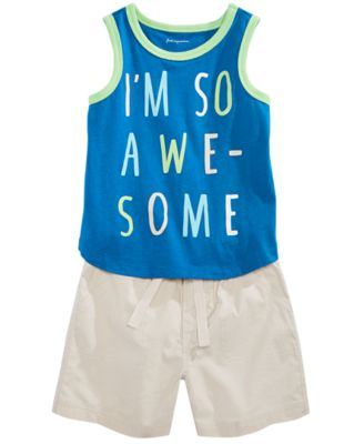 Toddler Boys Graphic Tank Top, Created for Macy's