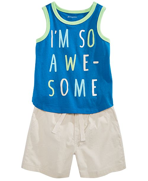 First Impressions Toddler Boys Graphic-Print Tank Top & Shorts Separates, Created for Macy's