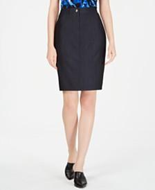 Calvin Klein Denim Belt-Looped Skirt