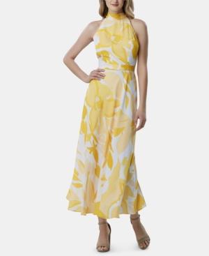 a96aa6eaf Tahari Asl Printed Halter-Neck Maxi Dress In Sunburst Swirl