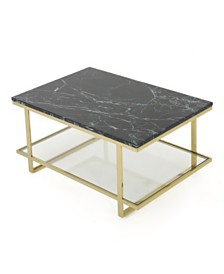 Mytch Modern Marble Coffee Table, Quick Ship