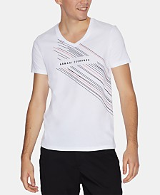 A|X Armani Exchange Men's Slim-Fit V-Neck Graphic T-Shirt