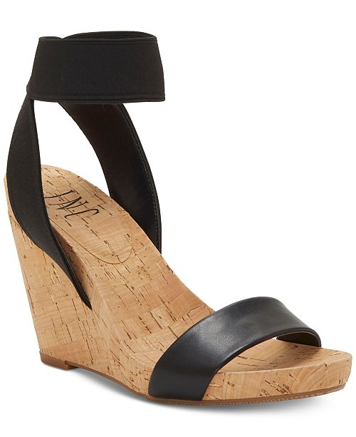 INC International Concepts I.N.C. Leanira Stretchy Ankle-Strap Wedge Sandals, Created for Macy's