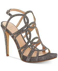 I.N.C. Sahvi Caged Bling Evening Sandals, Created for Macy's
