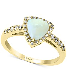 EFFY® Opal (1-1/6 ct.t.w.) & Diamond (1/5 ct. t.w.) Ring in 14k Gold